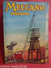 MECCANO MAGAZINE OCTOBER 1949 A HIGH LIFT LIFE BOAT SMITH MOBILE EXCAVATOR CRANE