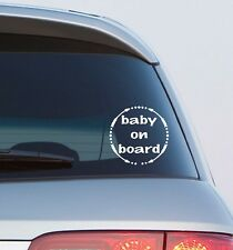 Baby On Board Car Window Stickers x2 Child safety Decals DRIVER AWARENESS