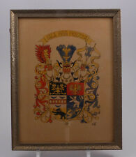 Aquarell Ostfriesland Wappen Grafenfamilie Cirksena unter Glas WII