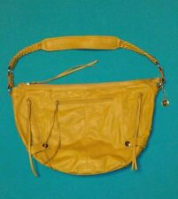 Big Buddha Mustard Yellow Silver Round Studded Handbag Purse Clean Interior