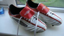CULT FOOTBALL BOOTS UMBRO ELEVATOR? SG WHITE / RED UK 9 USED BOXED CLEAN TIDY