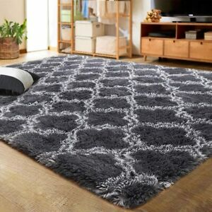 LOCHAS Luxury Velvet Shag Area Rug Modern Indoor Plush Fluffy Rugs, Extra Soft a