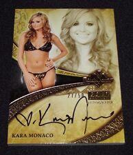 2013 Benchwarmer KARA MONACO Gold Edition #34 Black Ink Auto/50 Playboy PMOY Hot