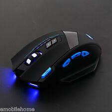 Original ZELOTES F-15 2.4GHz Wireless Optical Backlit Game Mouse USB3.0 Receiver