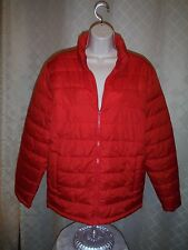 Old Navy Puffer Jackets size MD color Red Full Zip 2 side pockets NWT