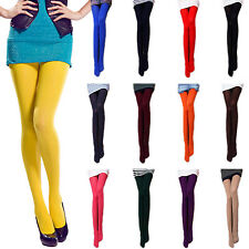 Pantyhose Winter sexy NEW Womens Ladies Colorful Tights Semi Opaque Party tata
