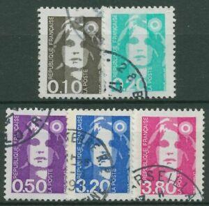 Frankreich 1990 Freimarke Marianne Briat 2764/68 gestempelt