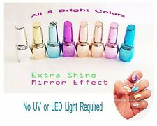 Extra Shine Metallic Mirror Effect Nail Polish Santee - All 8 Colors *us Seller*
