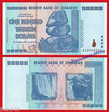 ZIMBABWE 100 trillones dolares trillion dollars 2008 Pick 91  SC / UNC
