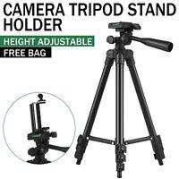 Professional Adjustable Black Camera Tripod Stand+Cell Phone Mount Holder+Bag