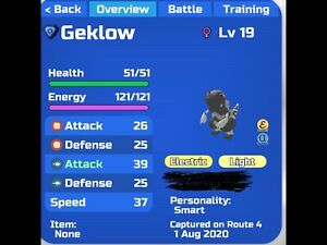 Loomian Legacy - Gleaming Silver Geklow! - Event! (Rare!)