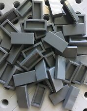 Lego Dk Grey Lot Of 50 Dark Gray Flat Tiles 1x2 Smooth Finishing Tile Roof Floor