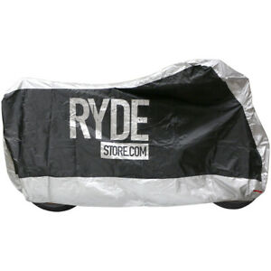 RYDE X LARGE SILVER WATERPROOF MOTORCYCLE COVER BIKE/MOTORBIKE RAIN PROTECTOR XL