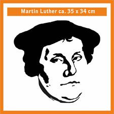 MARTIN LUTHER Wandtatoo, ca. 35 x 34 cm, Hochleistungsfolie mit Montagepapier
