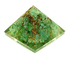 PYRAMID - AVENTURINE ORGONE (ORGANITE) 26-29mm with Pouch & Description Card