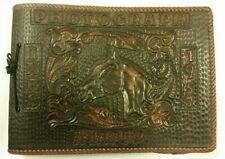 Vintage Tooled Leather Photo Album Signed by Artist NEVER USED c1957