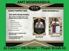 Ken Griffey Jr. Mariners 2020 Topps Tier One 2X Case 24x BOX PLAYER BREAK #3