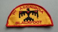 Scouts cloth badge, !st Assiniboia Blackfoot, 4 inches wide.