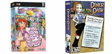Diner Dash and Wedding Dash  Brand New in 2 Retail Boxes  PC and MAC