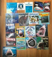 Lot 18 SHARKS DOLPHINS & WHALES Kids Picture books Non-Fiction Science
