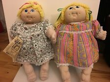 The Original Doll-Baby Fiber Craft Cabbage Patch Yellow Hair x 2 with stand