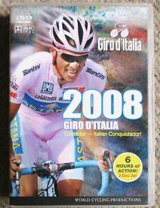 2008 Giro d'Italia World Cycling Productions 3 DVD 6 hrs  Clean Alberto Contador