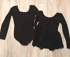 Set of 2 black Leotards bloch brand size 6x/7