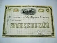 1800's/early 1900's Unisued Baltimore & Ohio Railroad Company Stock Certificate