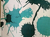 Vintage wild abstract mcm color blotches curtains drapes novelty fabric panels!