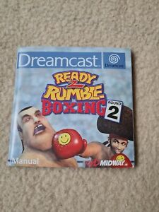 READY 2 RUMBLE Boxing Round 2 - MANUAL ONLY no game SEGA DREAMCAST