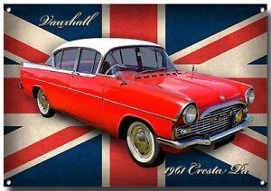 VAUXHALL CRESTA PA METAL SIGN,CLASSIC VAUXHALL CARS,1960'S VINTAGE VAUXHALL CAR.
