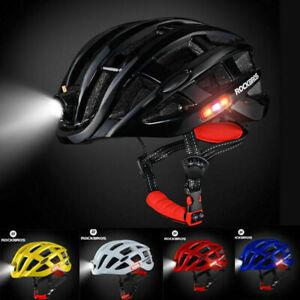 RockBros Outdoor Sport Cycling Bike Helmet USB Rechargeable Light Size 57-62cm