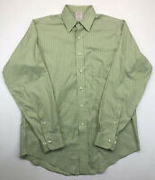 Brooks Brothers Traditional Fit Non Iron Green Button Front Long Sleeve 15 - 4/5