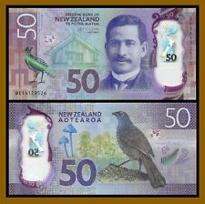 New Zealand 50 Dollars, 2016 P-194 Bird Polymer Unc
