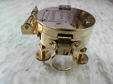 Vintage Brass Brunton Compass Nautical Tripod Style Stand Collectible