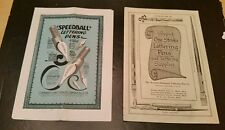 2 Antique Fountain Pen Advertising Pamphlet Catalog