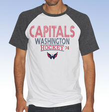 G-III Sports NHL Men's WASHINGTON CAPITALS HeritageTri-Blend T-Shirt TEE - Large