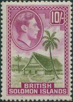 Solomon Islands 1939 SG72 10/- Native House MLH