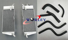 For Honda CR250R CR250 85 86 87 1985 1986 1987 Aluminum Radiator & Hose BLACK