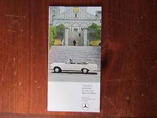 Mercedes-Benz  Modellpr/Delivery 1965 Brochure Preisliste Prospekt Brochure