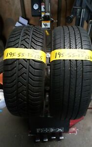 195 55 15 PART WORN TYRES 6mm+ FITTED AND BALANCED