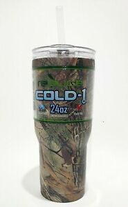 REALTREE XTRA Reduce Cold-1 Stainless Steel Travel Tumbler 24 oz Cup w/ Straw