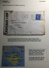 1942 Newport Isle Of wight Censored Cover To Fareham England Economy Label