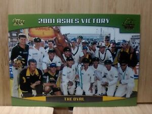 2001 ASHES VICTORY - The Oval🏆2002 #98 Topps ACB Cricket Card🏆