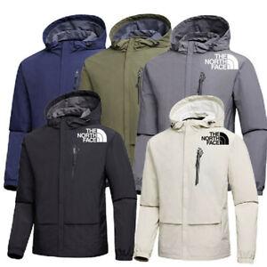 Mens N0RTH FACE Waterproof Outdoor Fleece Hoodies Full Zip Wind Jacket Coats Top