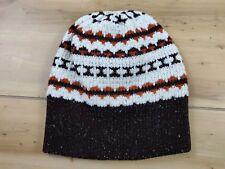 Vintage One Size Adult Brown Beanie Toboggan Winter Hat