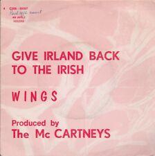 Wings (Paul McCartney - Beatles) Give Ireland Back To The Irish Belgium 45 W/PS