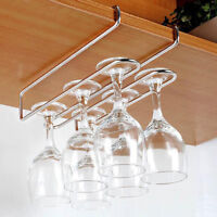 Wine Glass Rack Under Cabinet Hanger Hanging Rack Stemware Holder Organizer Bar
