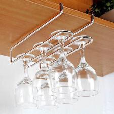 Wine Glass Rack Under Cabinet Hanger Hanging Rack Stemwares Holder Organizer Bar