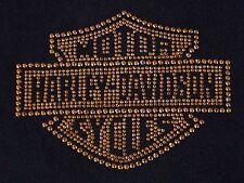 Harley Davidson Motor Cycles T-Shirt L Rhinestones Bluegrass Louisville KY  HD